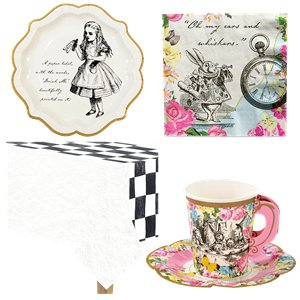 Alice in Wonderland Party Pack - Value Pack For 12