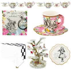 Alice in Wonderland Party Pack - Super Deluxe Party Pack For 12