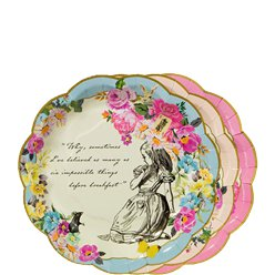 Alice in Wonderland Paper Plates - 17cm