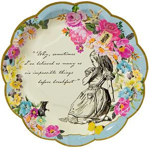 Alice in Wonderland Plates - 17cm