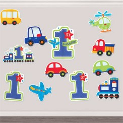 All Aboard 1st Birthday Cutouts