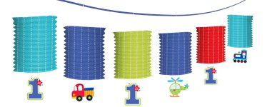All Aboard 1st Birthday Lantern Garland - 3.65m
