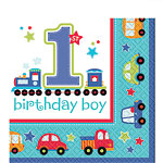 All Aboard 1st Birthday Napkins - 2ply Paper