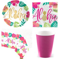 Aloha Summer Party Pack - Value Pack For 8