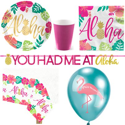 Aloha Summer Party Pack - Deluxe Pack For 8