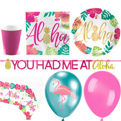 Aloha Summer Party Pack - Deluxe Pack For 16