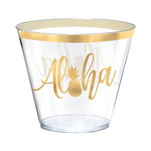 Aloha Summer Tumblers - 266ml Plastic Glasses