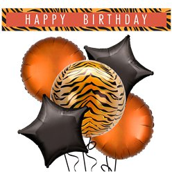 Tiger Balloons & Banners Decorating Kit