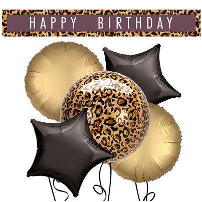 Leopard Balloons & Banners Decorating Kit