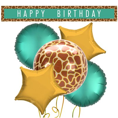 Giraffe Balloons & Banners Decorating Kit