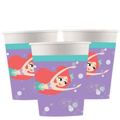 Ariel Under The Sea Paper Cups - 200ml