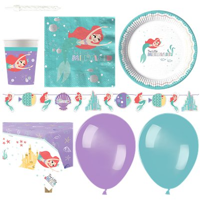 Ariel Under The Sea Party Pack - Deluxe Pack For 16