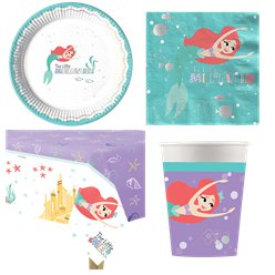 Ariel Under The Sea Party Pack - Value Pack For 8