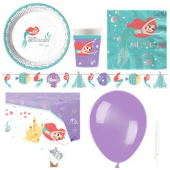 Ariel Under The Sea Party Pack - Deluxe Pack For 8