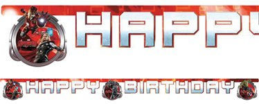 Avengers Age Of Ultron Happy Birthday Banner