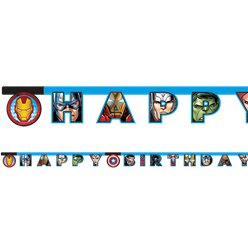 "Mighty Avengers ""Happy Birthday"" Letter Banner"