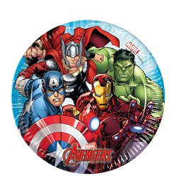 Mighty Avengers Paper Plates - 20cm