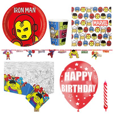 Avengers Pop Comic Party Pack - Deluxe Pack for 8