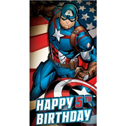 Captain America Age 5 Birthday Card