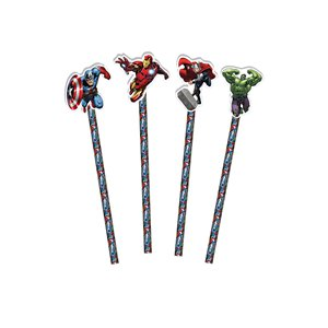 Avengers Pencils with Eraser Topper