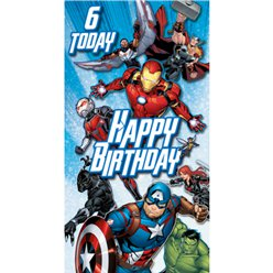 Avengers Age 6 Birthday Card