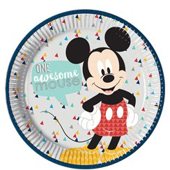Mickey Awesome Paper Plates - 23cm