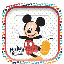 Mickey Awesome Square Paper Plates - 25.5cm