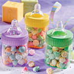 Multicolured Fillable Baby Bottles - 7.5cm