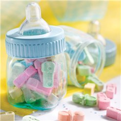 Blue Fillable Baby Bottles - 7.5cm