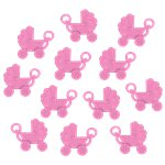 Baby Shower Favour Pink Pram Charms