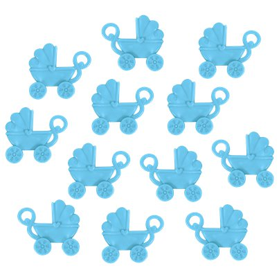 Baby Shower Favour Blue Pram Charms