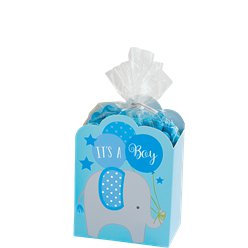 Baby Shower Blue Favour Box Kit
