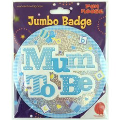 Mum to Be Jumbo Badge Blue