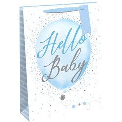 Hello Baby Blue Gift Bag - Extra Large