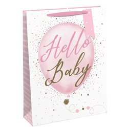 Hello Baby Pink Gift Bag - Large