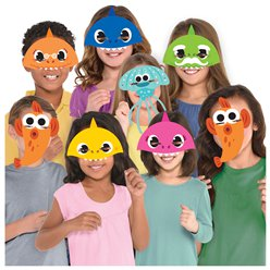 Baby Shark Assorted Paper Party Masks
