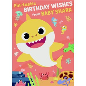 Baby Shark Sound Birthday Card