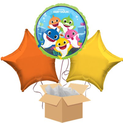 Baby Shark Balloon Bouquet - Delivered Inflated