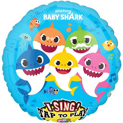 Baby Shark Tap To Sing Balloon - 71cm Foil