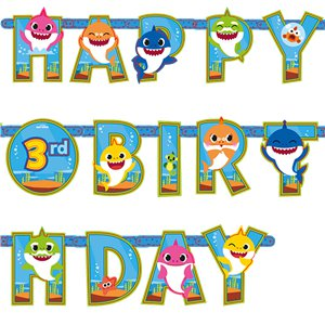 Baby Shark Add an Age Letter Banner - 3.2m x 22cm