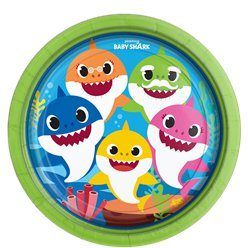 Baby Shark Paper Plates - 23cm
