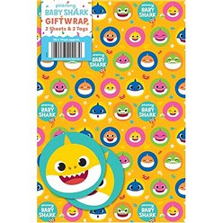Baby Shark Wrapping Paper & Tags