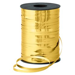 Gold Metallic Curling Balloon Ribbon - 250m