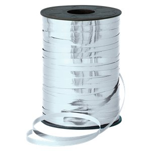 Silver Metallic Curling Balloon Ribbon - 250m