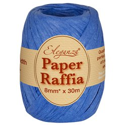 Royal Blue Paper Raffia - 30m