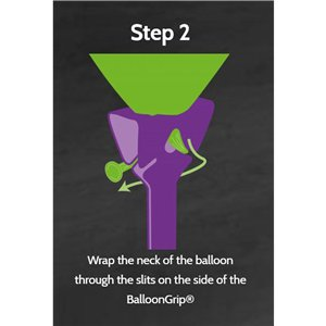 Bloony White Cardboard Balloon Holder
