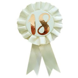 Rose Gold 18th Rosette Badge