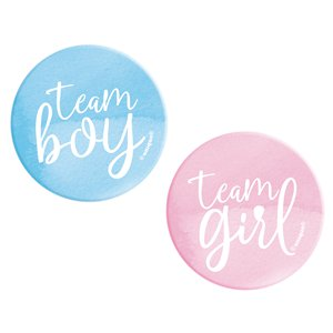 Team Boy & Team Girl Badges