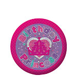 Happy Birthday Princess Badge - 5.5cm