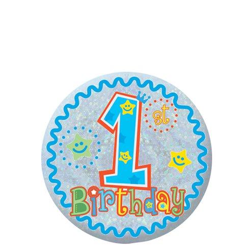 Happy 1st Birthday Boy Badge 5 5cm Party Delights